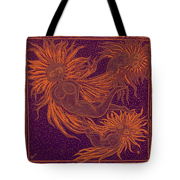 Angels At Play Tote Bag by Lyn Dufty
