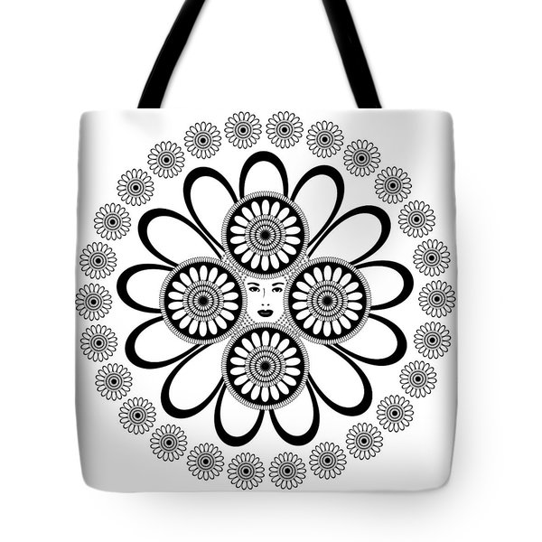 Art Nouveau Woman Tote Bag by Frank Tschakert