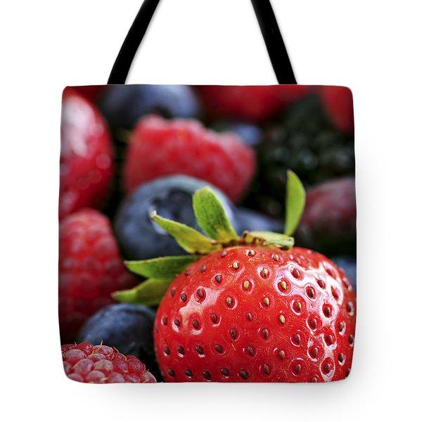 Assorted Fresh Berries Tote Bag by Elena Elisseeva