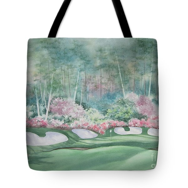 Augusta National 13th Hole Tote Bag by Deborah Ronglien