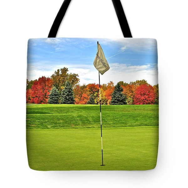 Autumn Golf Tote Bag by Frozen in Time Fine Art Photography