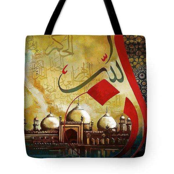 Badshahi Mosque Tote Bag by Catf