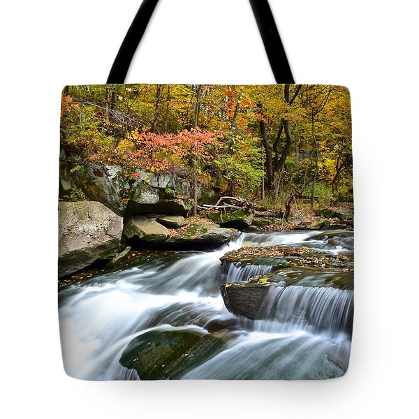 Berea Falls Tote Bag by Frozen in Time Fine Art Photography