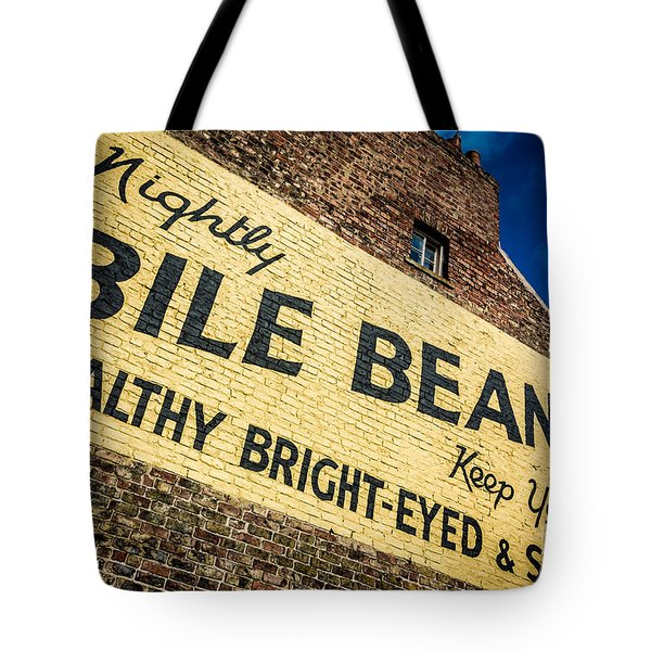 Bile Beans Advertising Tote Bag by Bailey Cooper