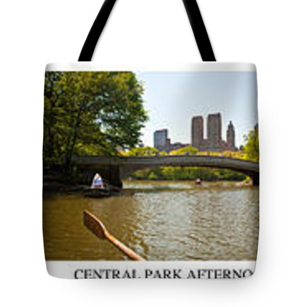 Central Park Afternoon Tote Bag by Madeline Ellis