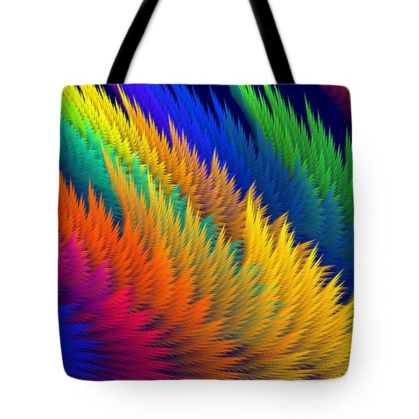 Computer Generated Abstract Fractal Flame Tote Bag by Keith Webber Jr