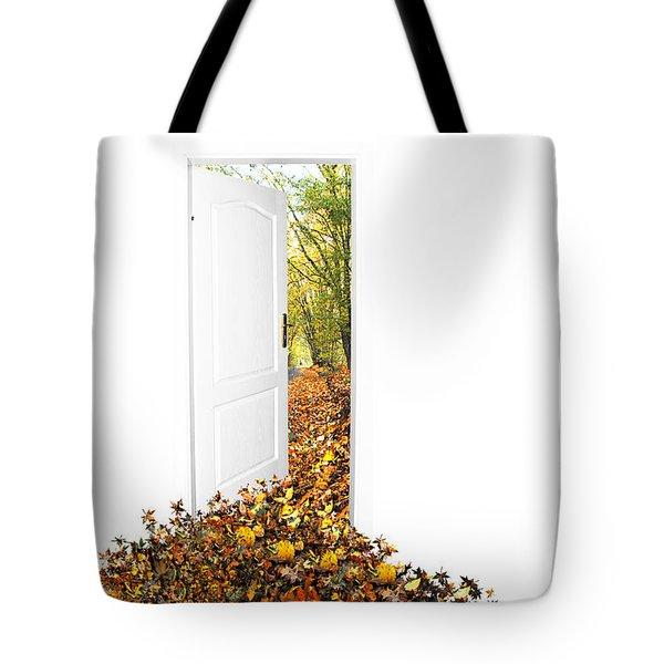 Door To New World Tote Bag by Michal Bednarek