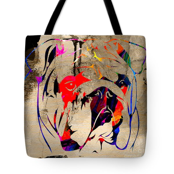 English Bulldog Tote Bag by Marvin Blaine