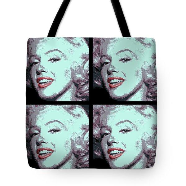 4 Frame Marilyn Pop Art Tote Bag by Daniel Hagerman