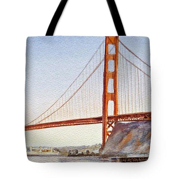 Golden Gate Bridge San Francisco Tote Bag by Irina Sztukowski