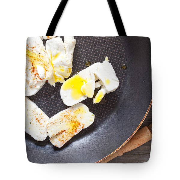 Halloumi Cheese Tote Bag by Tom Gowanlock