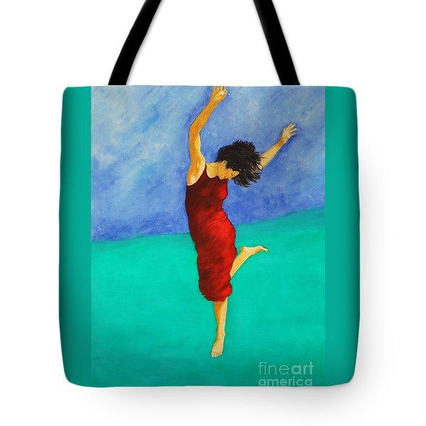 Jump Of Joy Tote Bag by Dagmar Helbig