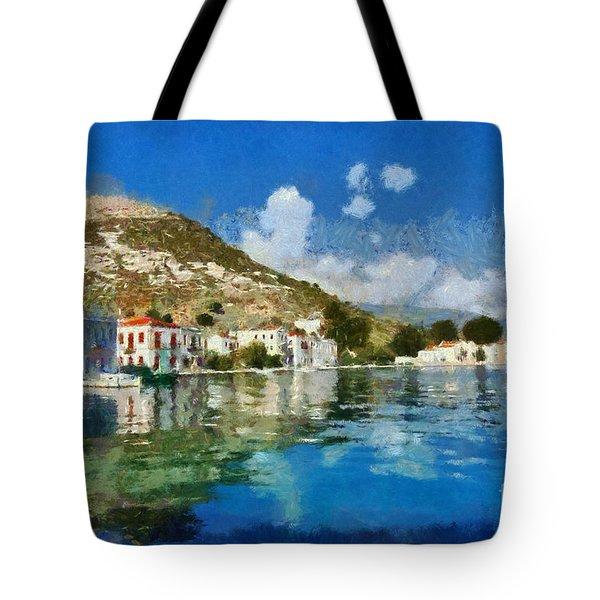 Kastellorizo Island Tote Bag by George Atsametakis