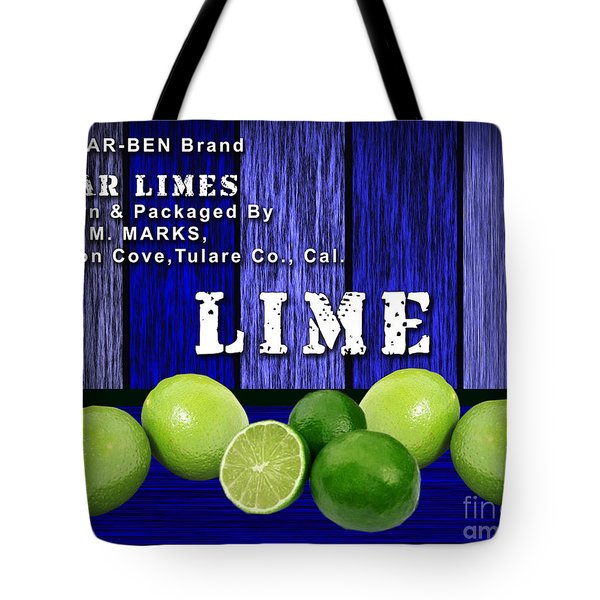 Lime Farm Tote Bag by Marvin Blaine