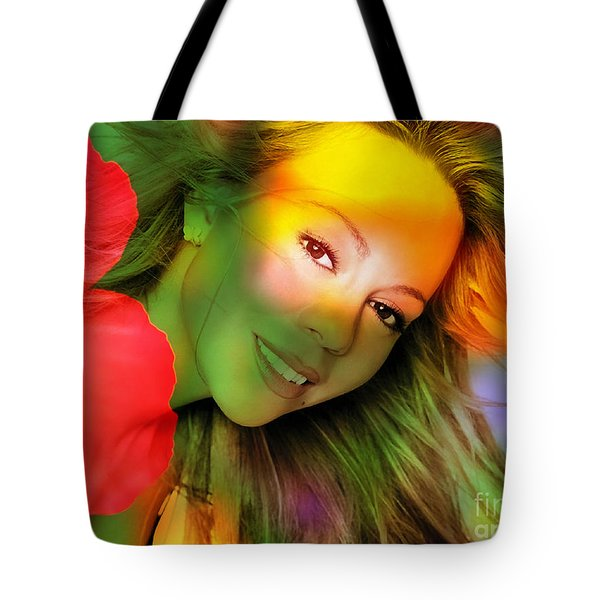 Mariah Carey Tote Bag by Marvin Blaine