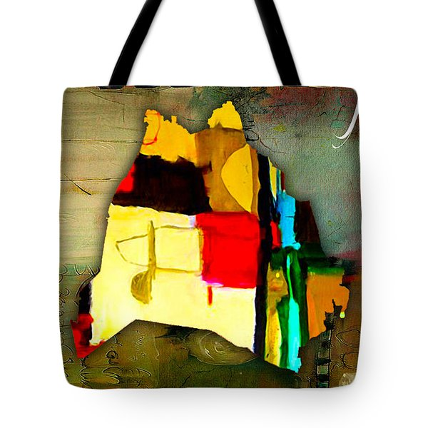 Nashville Map Watercolor Tote Bag by Marvin Blaine