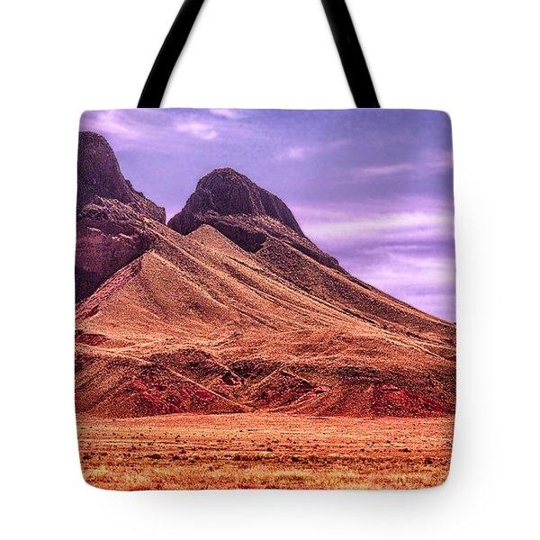 Navajo Nation Series Along 87 And 15 Tote Bag by Bob and Nadine Johnston