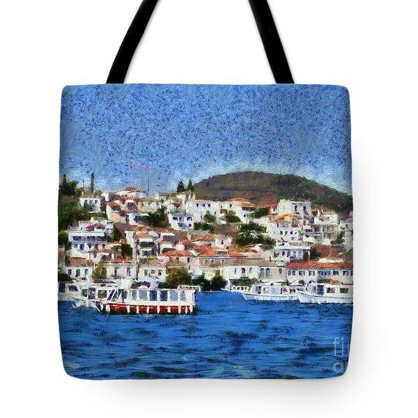 Poros Island Tote Bag by George Atsametakis