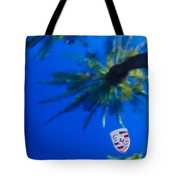Porsche Emblem Tote Bag by Jill Reger