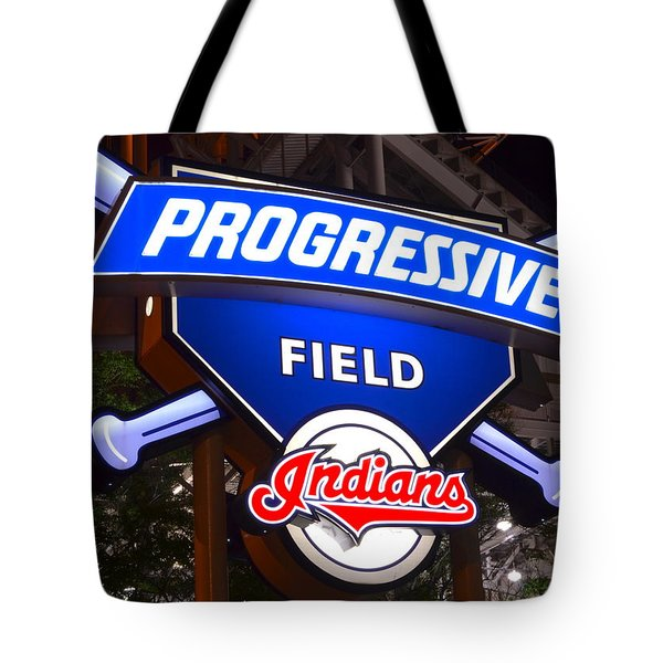 Progressive Field Tote Bag by Frozen in Time Fine Art Photography