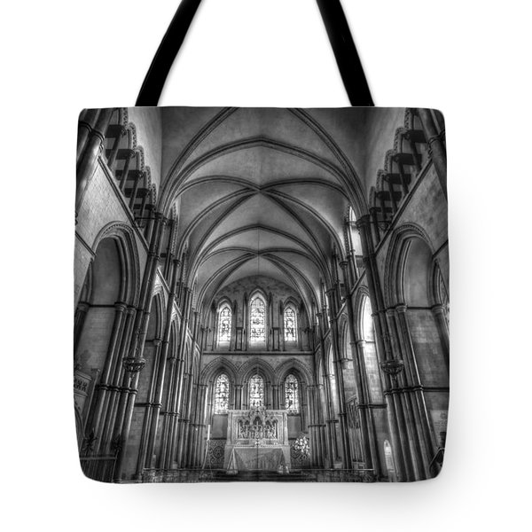 Rochester Cathedral Interior Hdr. Tote Bag by David French