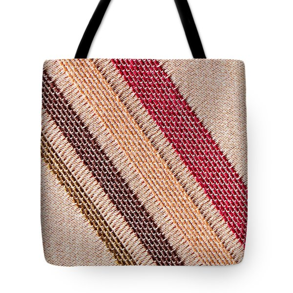 Striped Material Tote Bag by Tom Gowanlock