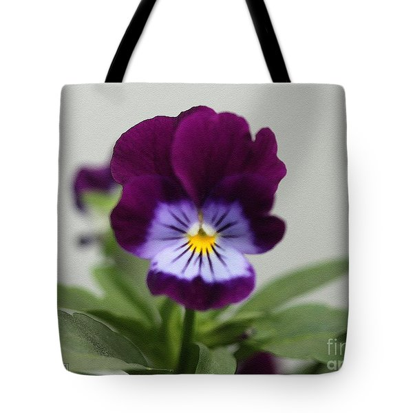 Viola Named Sorbet Plum Velvet Jump-up Tote Bag by J McCombie