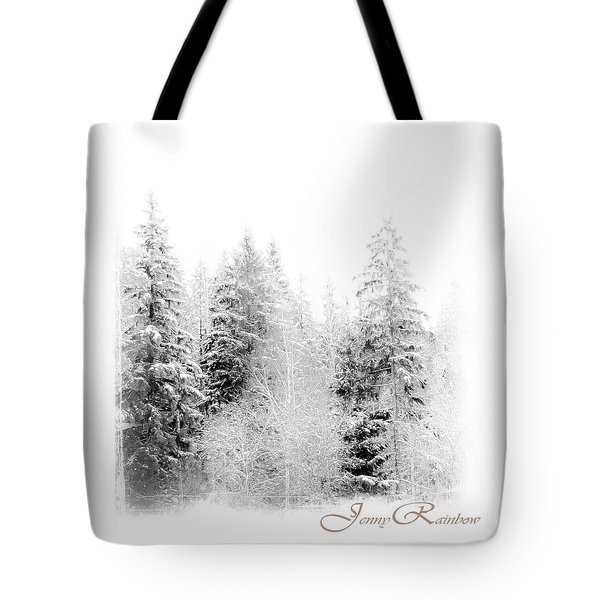 Winter Wonderland. Elegant Knickknacks From Jennyrainbow Tote Bag by Jenny Rainbow