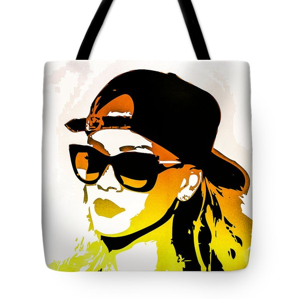 Rihanna Tote Bag by Svelby Art