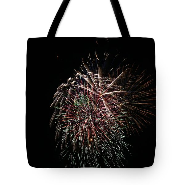 4th of July Fireworks Tote Bag by Alan Hutchins