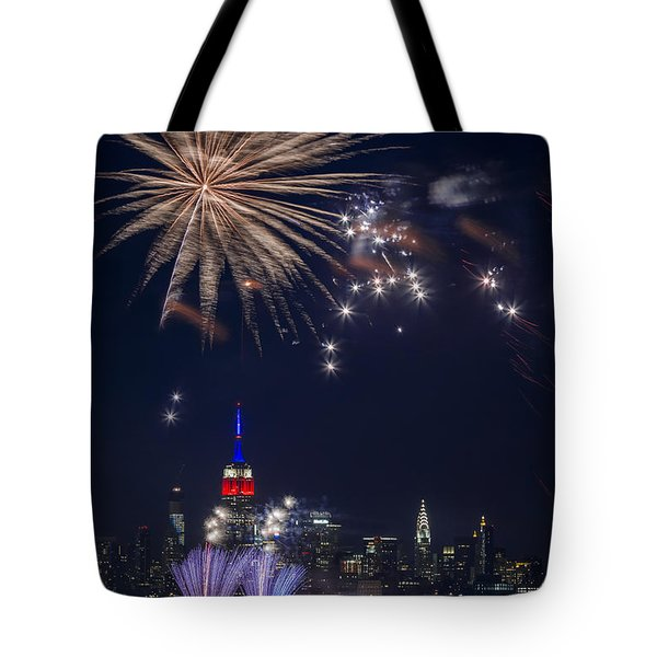 4th Of July Fireworks Tote Bag by Eduard Moldoveanu
