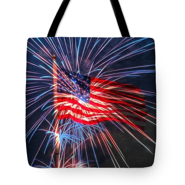 4th Of July Tote Bag by Heidi Smith