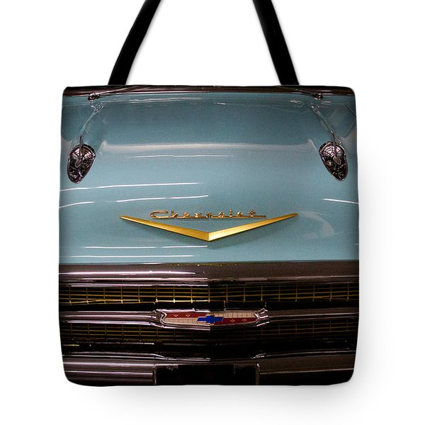1957 Chevy Bel Air Tote Bag by David Patterson