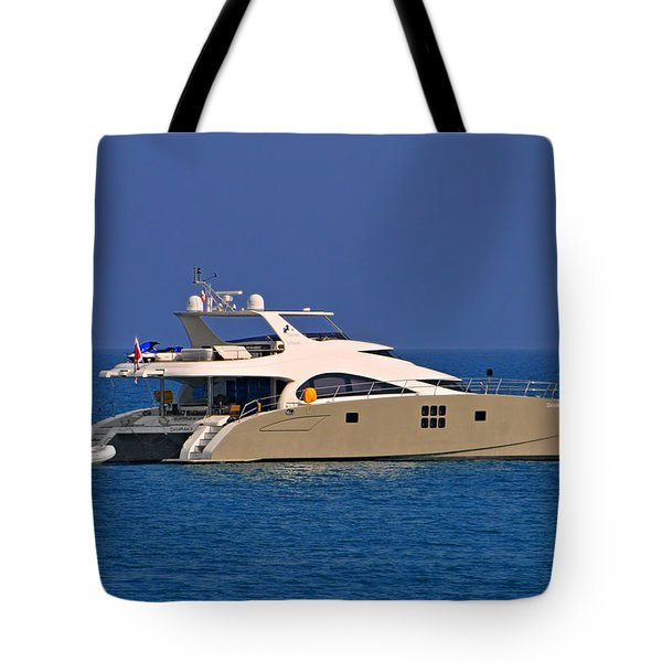 Antibes - Superyachts Of Billionaires Tote Bag by Christine Till