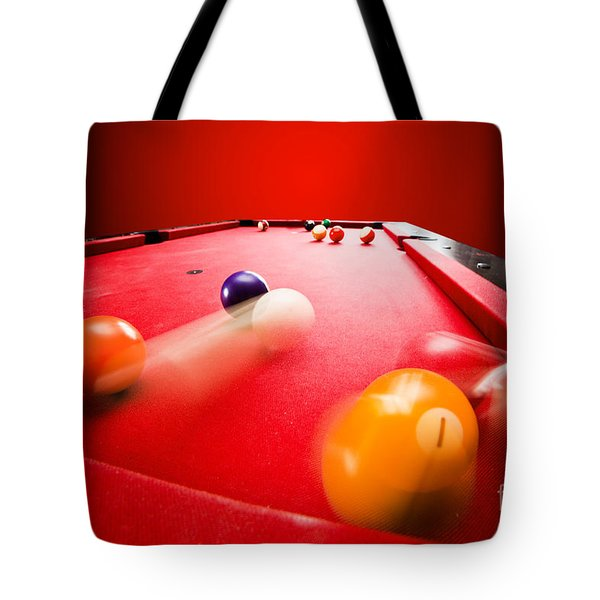 Billards Pool Game Tote Bag by Michal Bednarek
