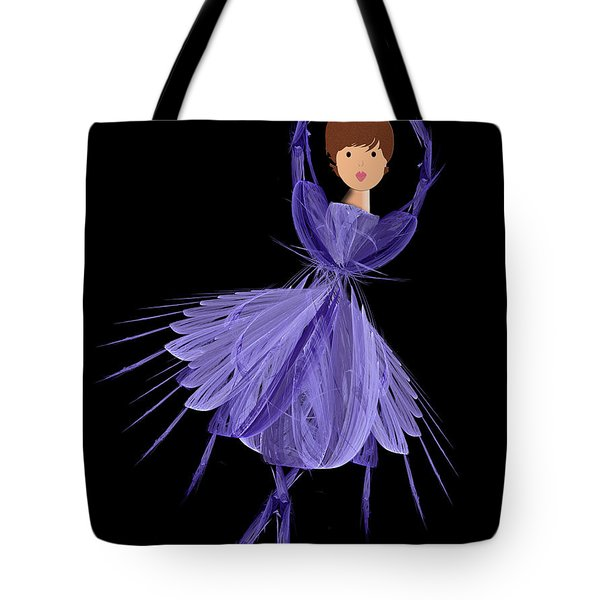 5 Blue Ballerina Tote Bag by Andee Design