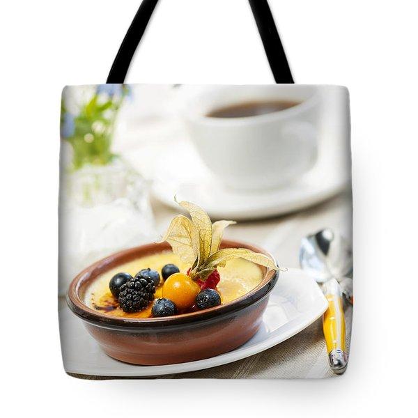 Creme brulee dessert Tote Bag by Elena Elisseeva