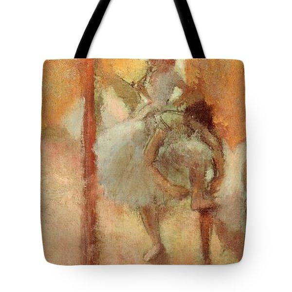 Dancers Tote Bag by Edgar Degas
