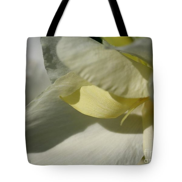 Dwarf Canna Lily Named Ermine Tote Bag by J McCombie