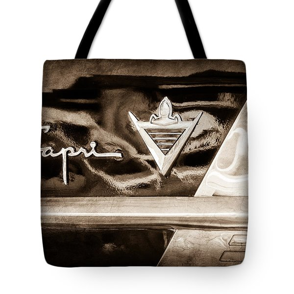 Lincoln Capri Emblem Tote Bag by Jill Reger