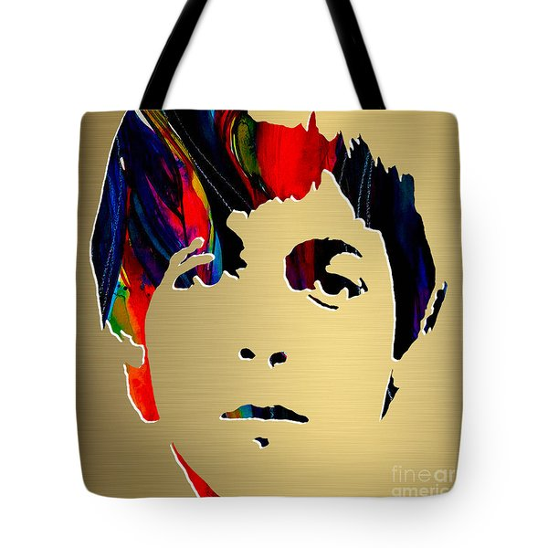 Paul Mccartney Gold Series Tote Bag by Marvin Blaine