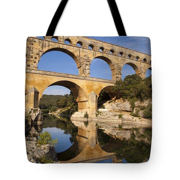 Pont Du Gard Tote Bag by Brian Jannsen