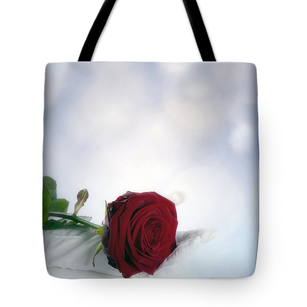 red rose Tote Bag by Joana Kruse