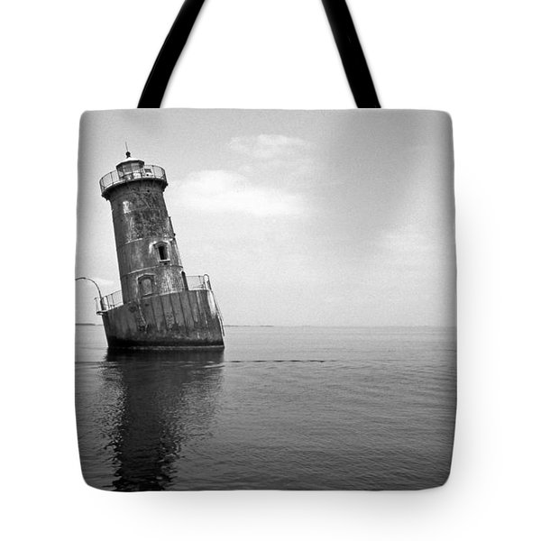 Sharps Island Lighthouse Tote Bag by Skip Willits