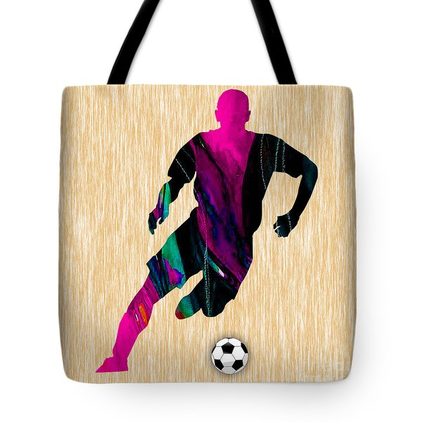 Soccer Tote Bag by Marvin Blaine