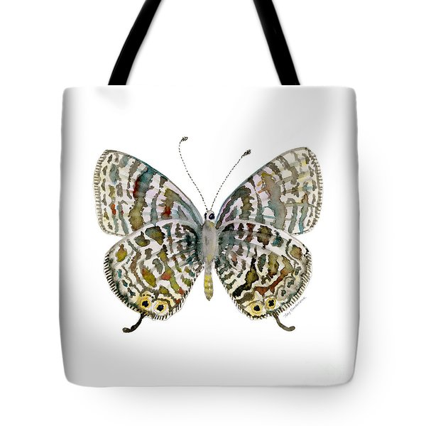 51 Lang's Short-tailed Blue Butterfly Tote Bag by Amy Kirkpatrick