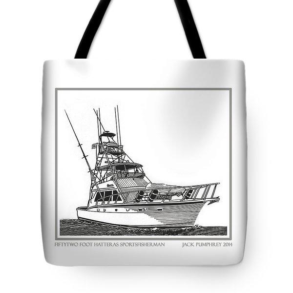 52 foot Hatteras Sportsfisherman Tote Bag by Jack Pumphrey