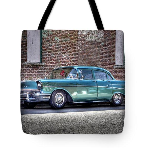'57 Chevy Tote Bag by Tony  Colvin