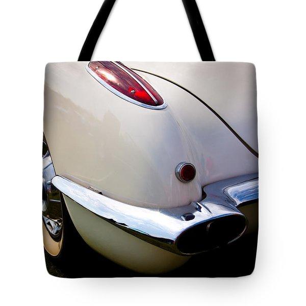 1959 Chevy Corvette Tote Bag by David Patterson