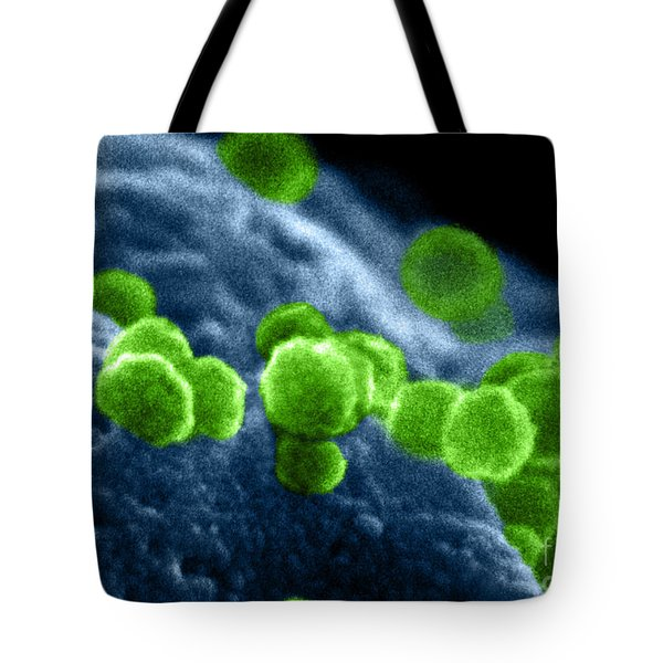 Aids Virus Tote Bag by Dr Cecil H Fox